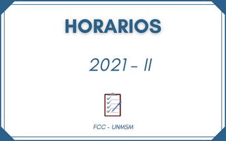 Horarios 2021 – II